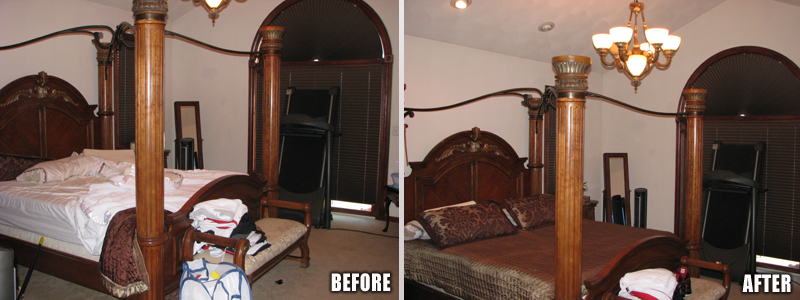 Bedroom Before/After Picture
